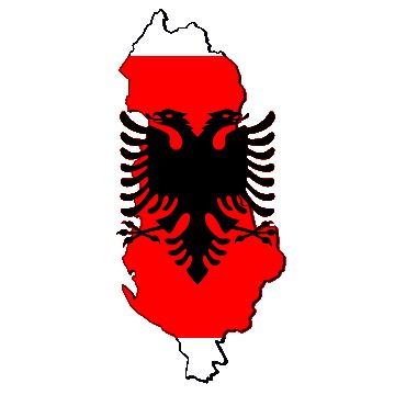 Karte und Flagge von Albanien
