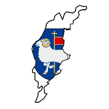 Karte und Flagge von Gotland
