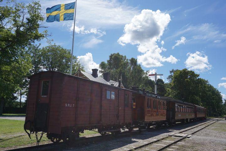 Museumsbahn Gotlandstaget in Dahlem Hesselby