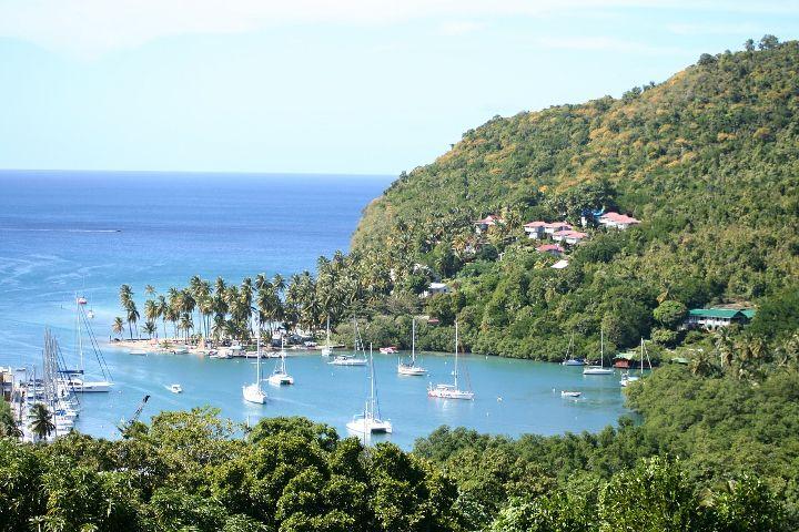 Blick auf die Marigot Bay St. Lucia