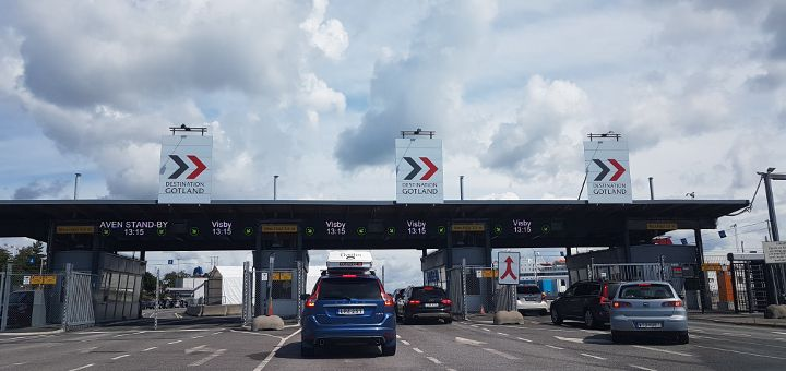 Nynäshamn Hafen Destination Gotland Check-In