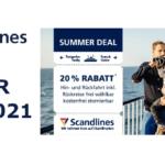 Scandlines Summer Deal 2021 mit 20% Rabatt